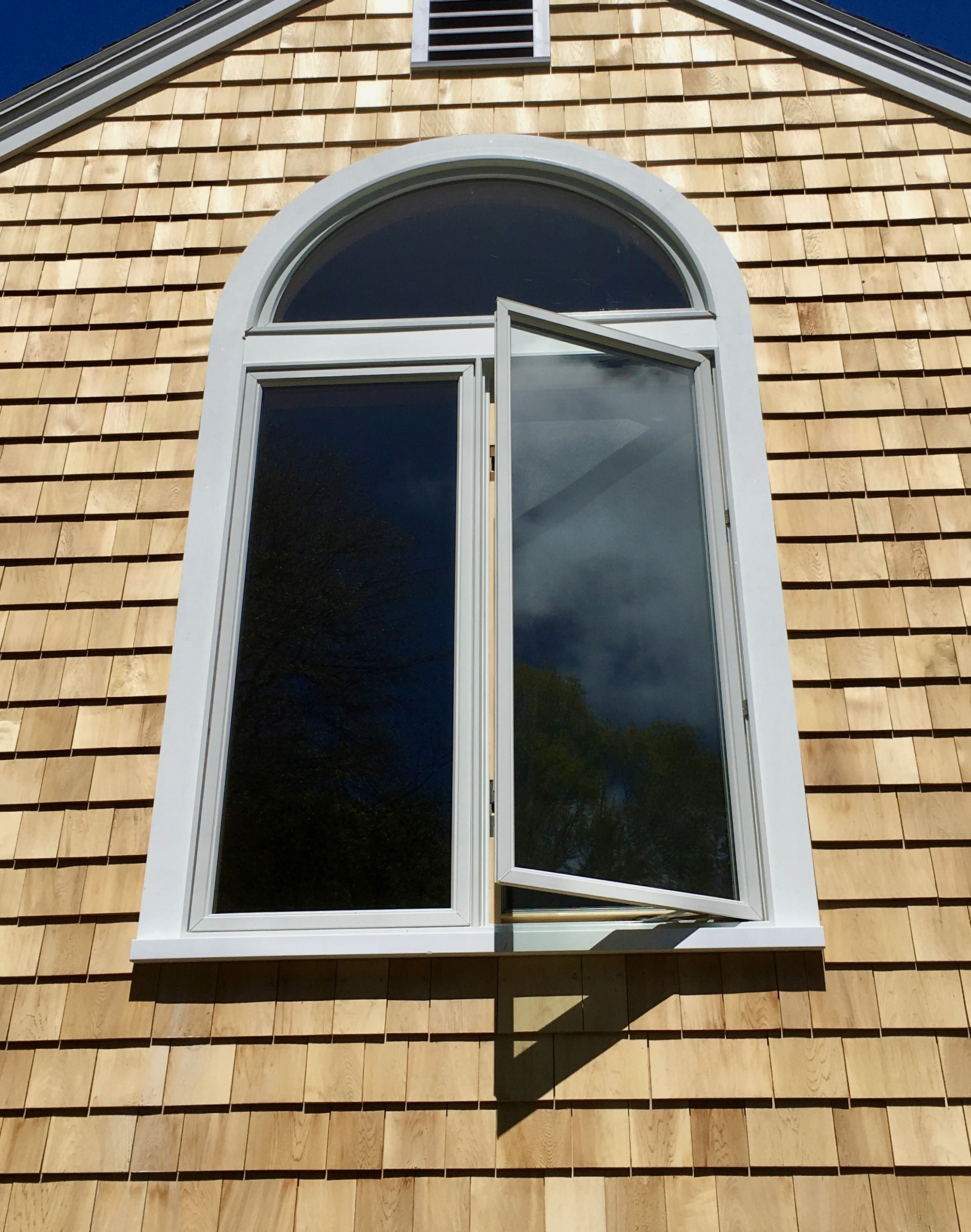 Exterior Arched Window Trim Replacment After Rus