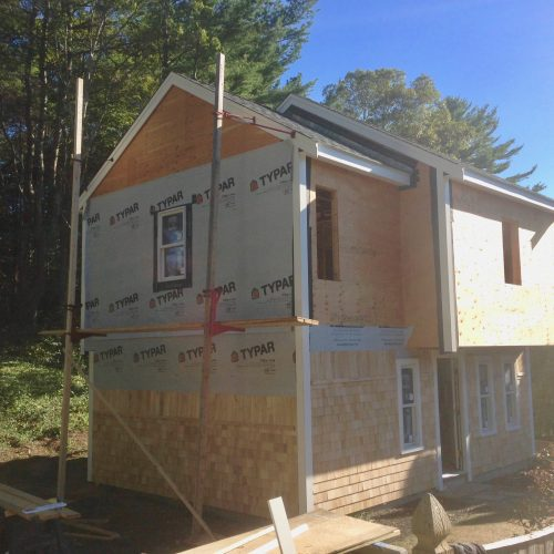 Whole house remodel-siding installation